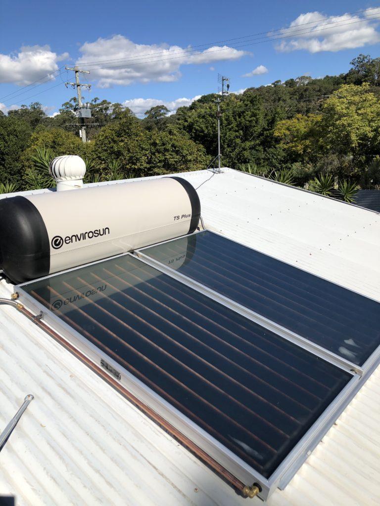 Envirosun solar hot water replace Solahart Fraser Coast